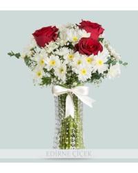 Papatya Kalpli Çiçek Aranjmanı