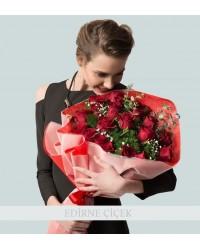 Bir Dolu Aşk 25 Kırmızı Gül Buketi